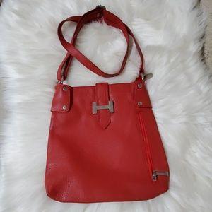 Geunine leather crossbody